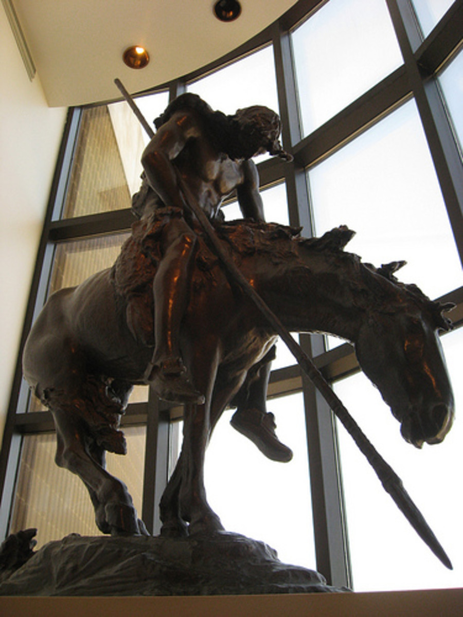 "Tulsa Attractions:  ""The Indian"", Frederic Remington"