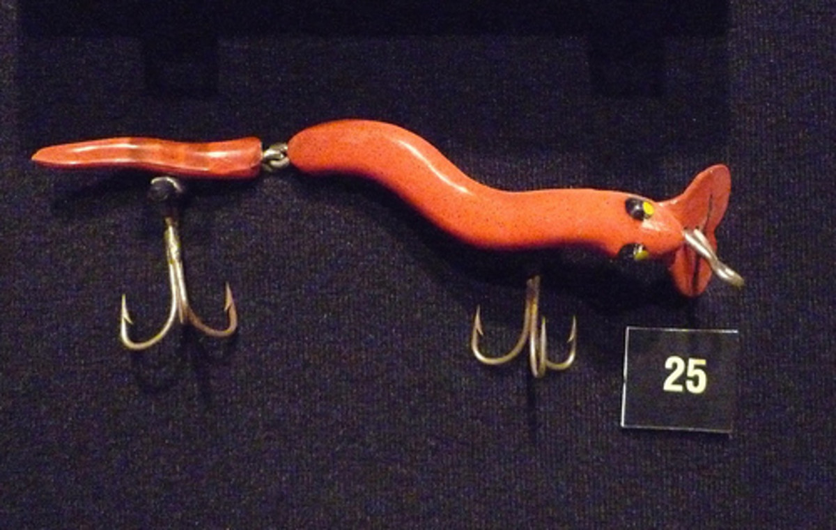 One of the Many Lures found in the Karl White Fishing Tackle Museum