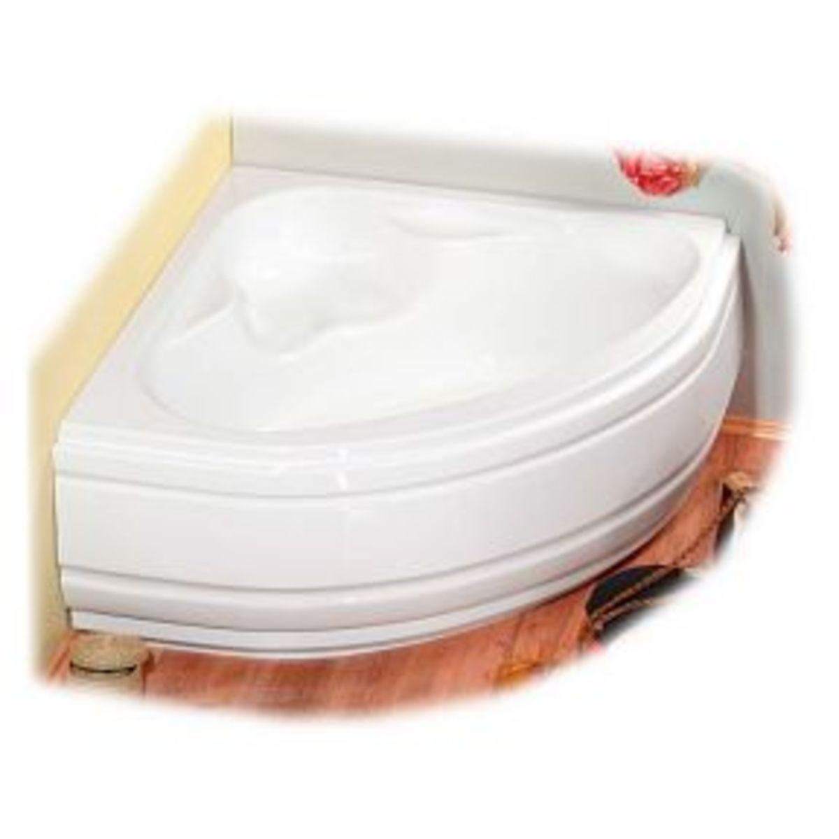 Small bathtubs: the corner bathtub.