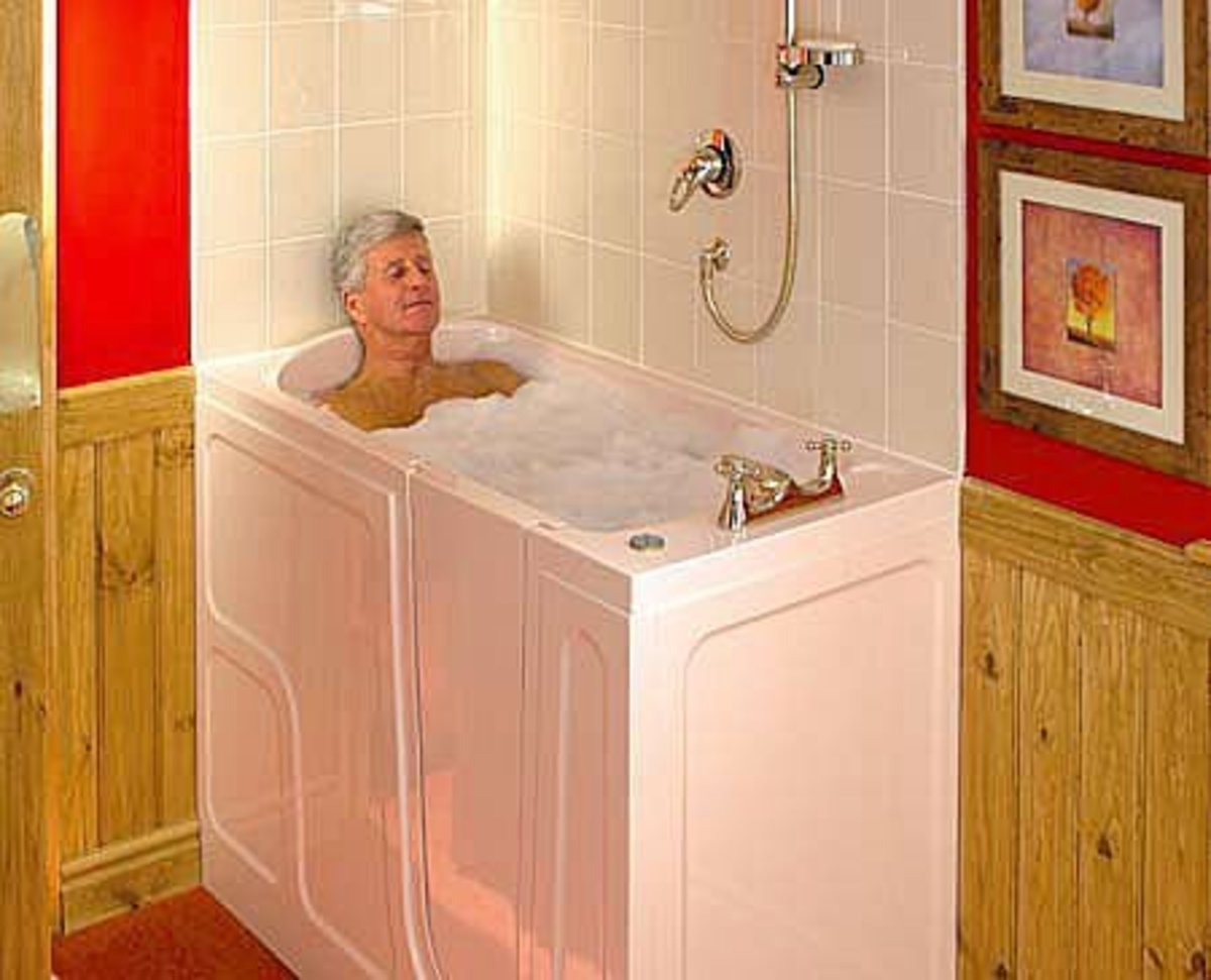 Small bathtubs: the walk-in tub.