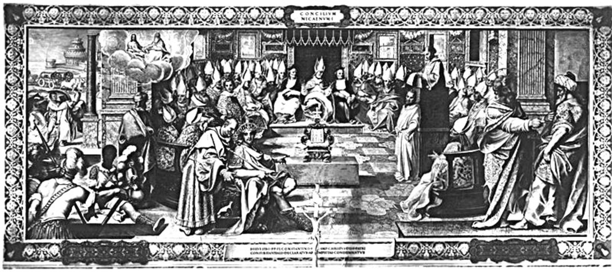 Fresco depicting the First Council of Nicaea