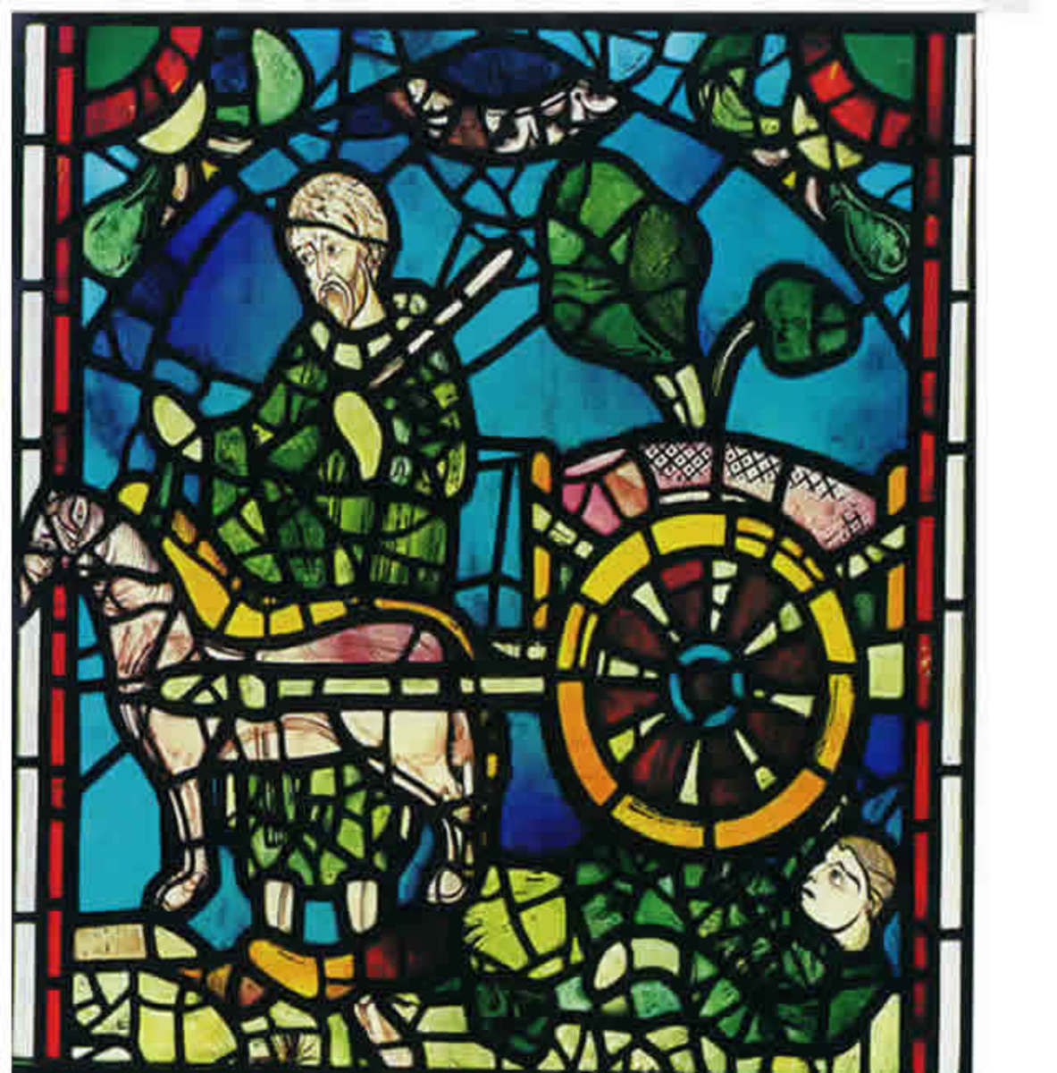 An example of some of the first stained glass created.