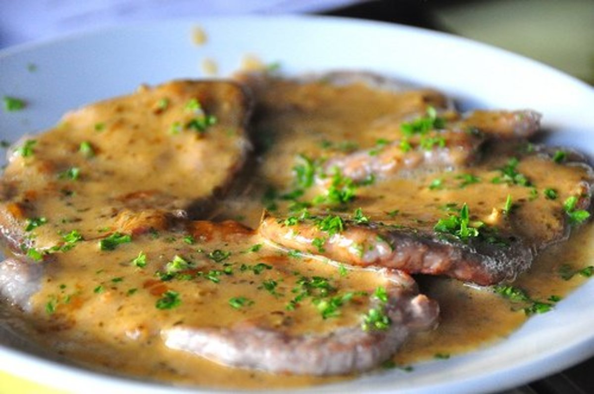 Pork Tenderloin Medallions in a Mustard Pan Sauce. An Easy and Tasty Recipe