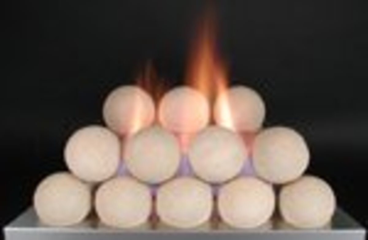 Vent free cannonball fireplaces are available in different colors and combination of colors.