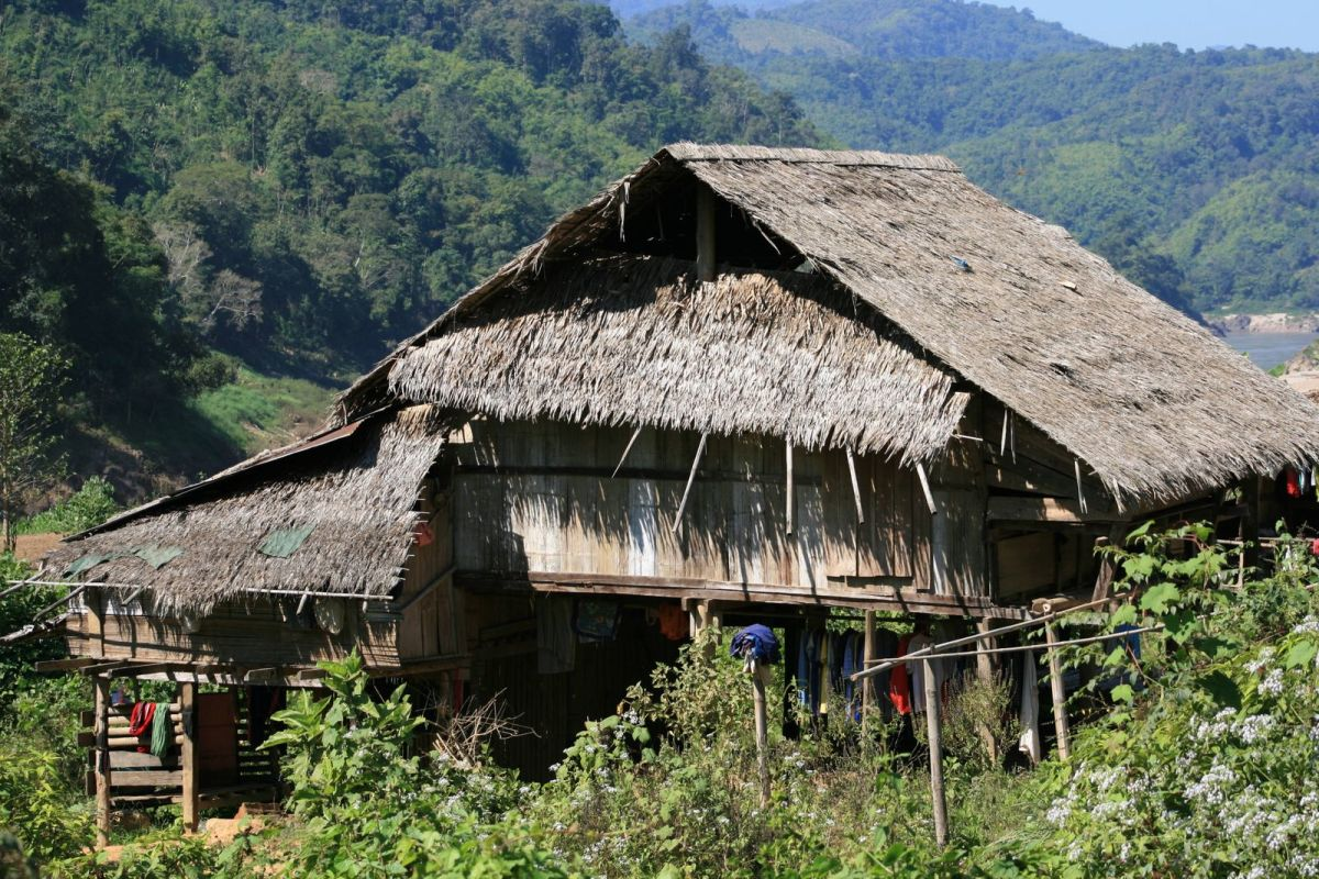 Hill Tribe Home In Northern Thailand