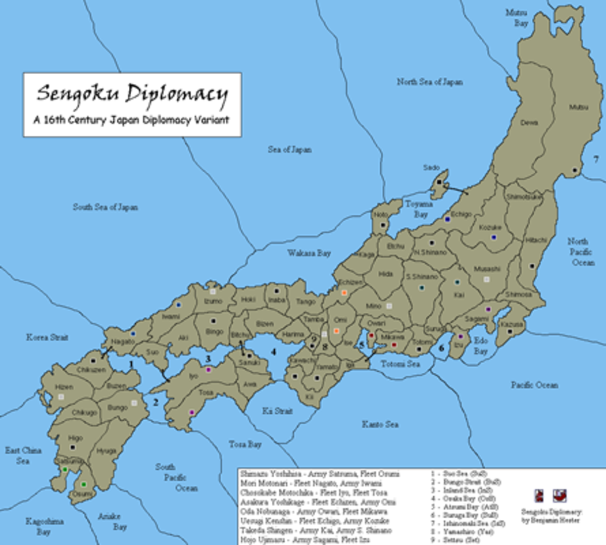 Warring States in 16th Century Japan