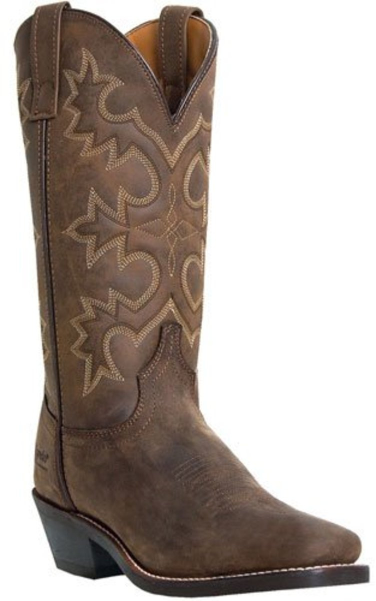 "Men's Laredo 12"" Comfort Pull On Leather Cowboy Boots"