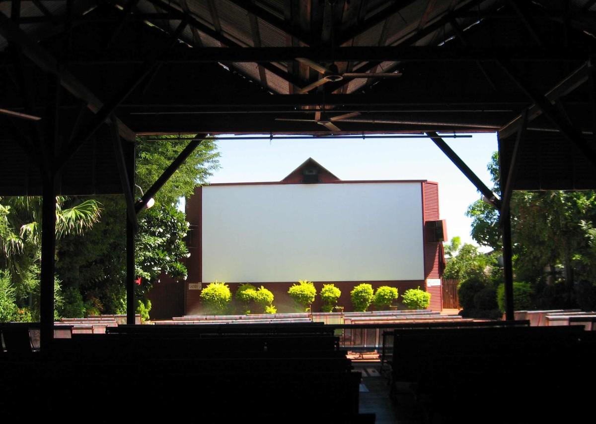 The indoor/outdoor silver screen