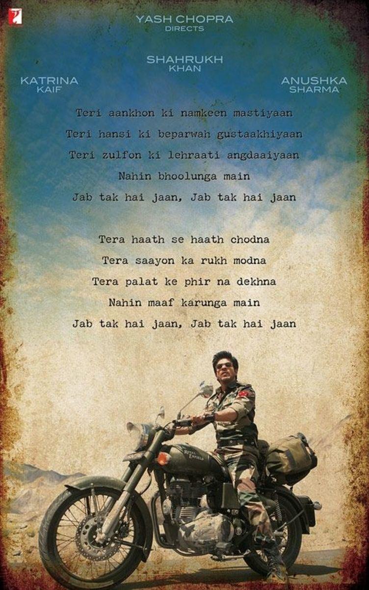 Shahrukh Khan in Jab Tak Hai Jaan