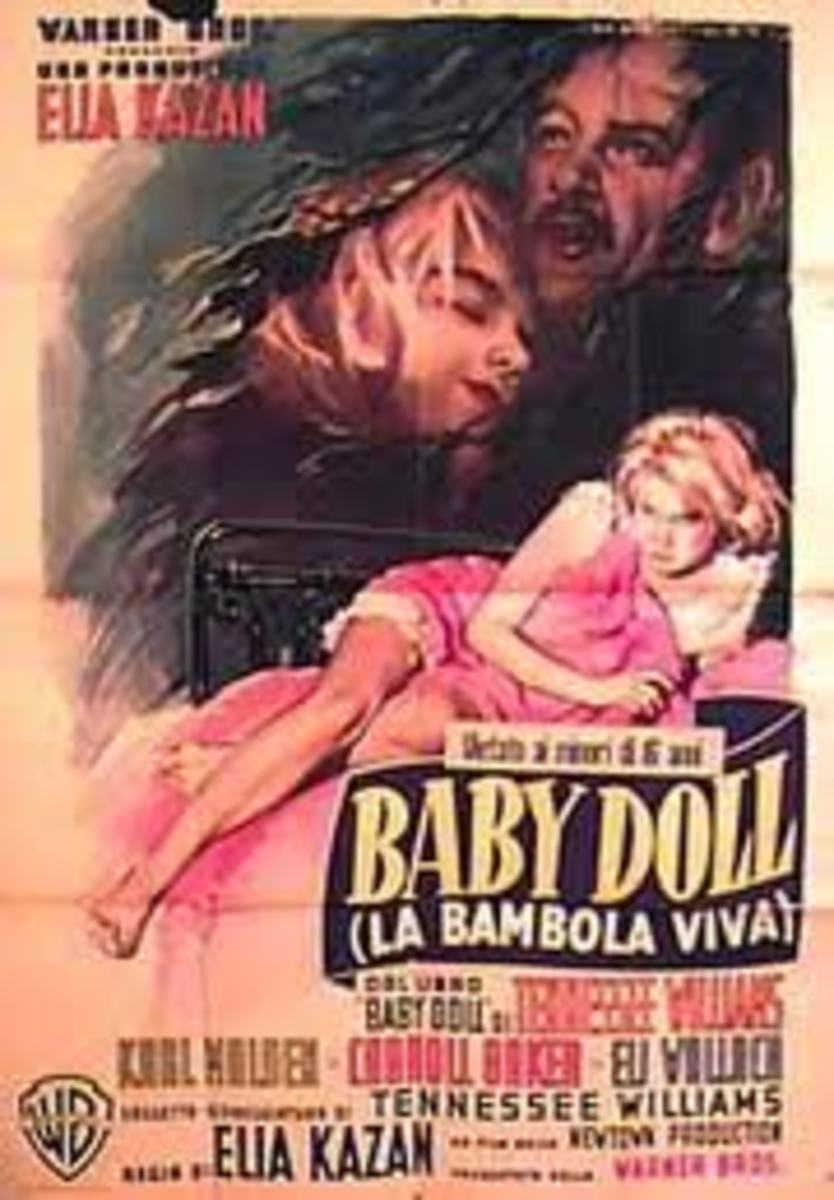 Poster showing Carroll Baker in the movie Baby Doll