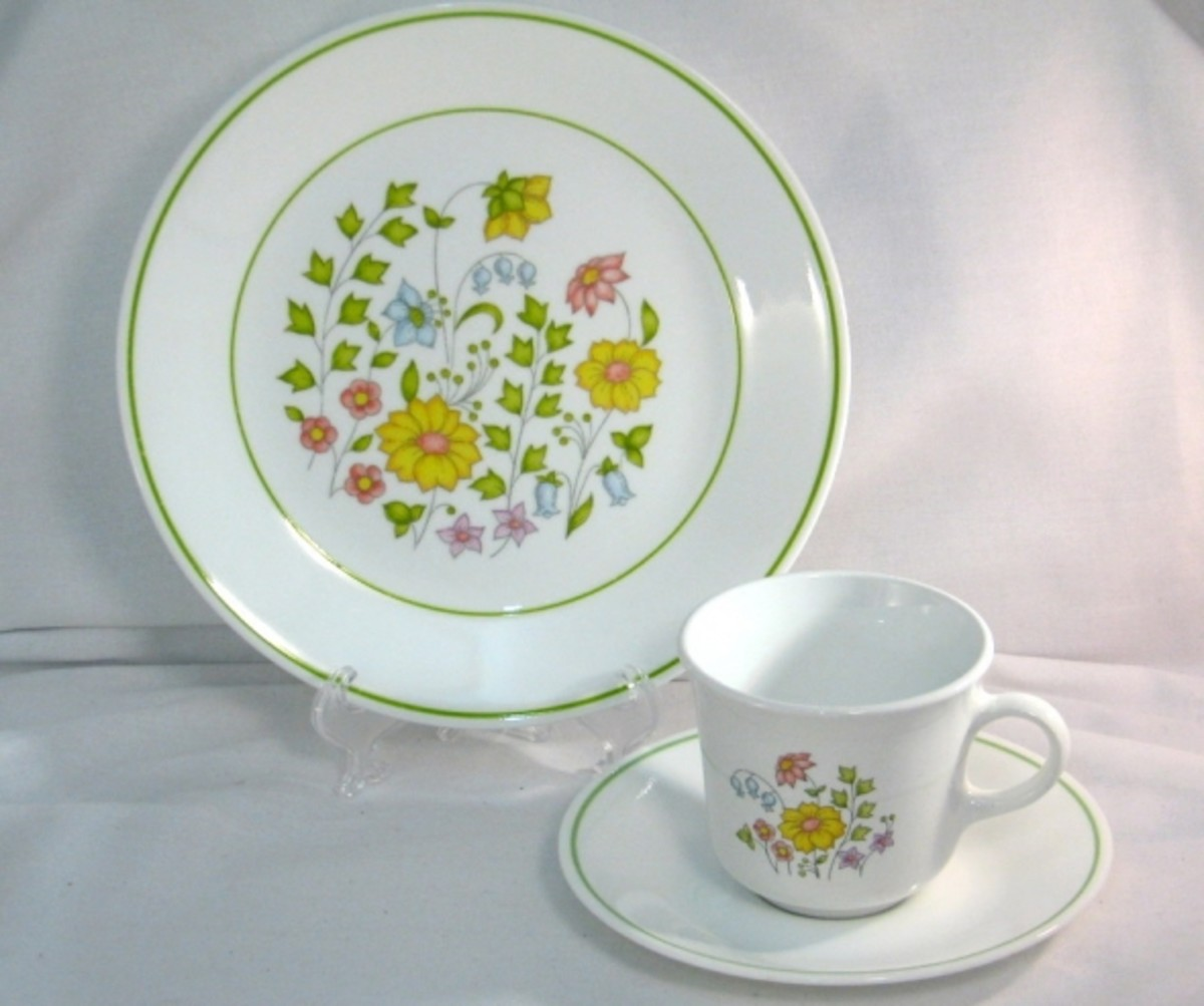 Corelle dinnerware Meadow pattern