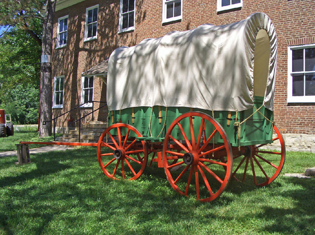 At the Shawnee Methodist Mission, this is a Conestoga wagon at the East Building and all comprise a US National Historic Landmark.