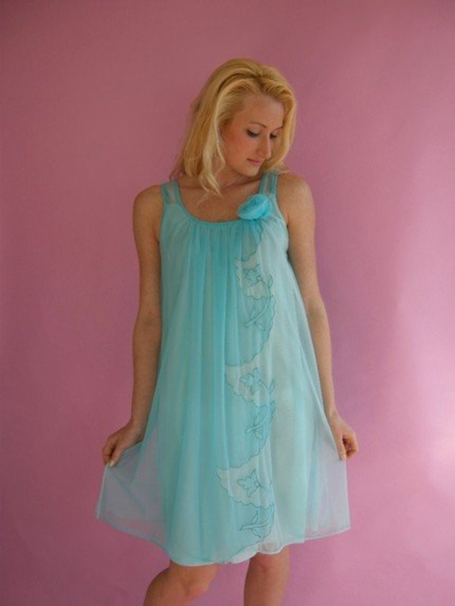 1960s Baby Doll Nightie - Modest by today's Standards!