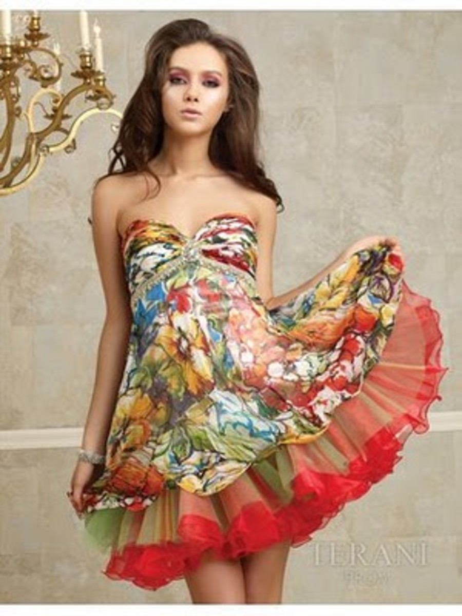 Beautiful Strapless Baby Doll Dress showing how great the style can look