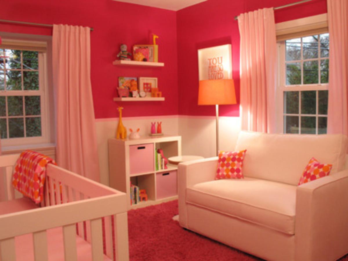 bright pink nursery