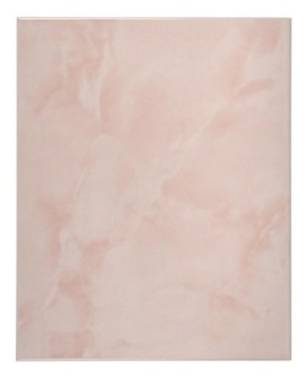Faux pink marble tile