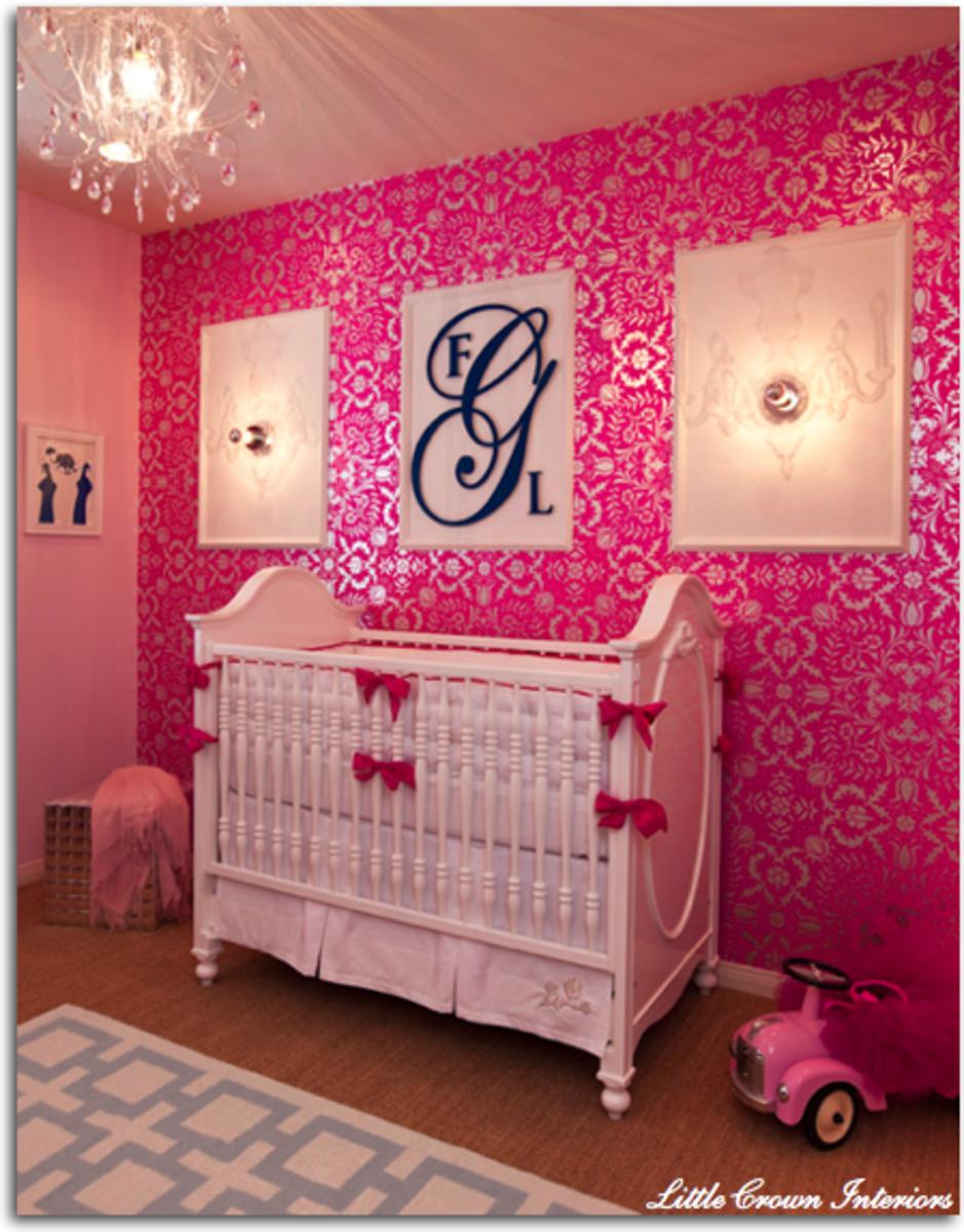 stylist fushia pink nursery