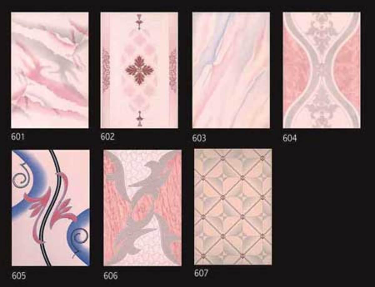 Various pretty pink tiles