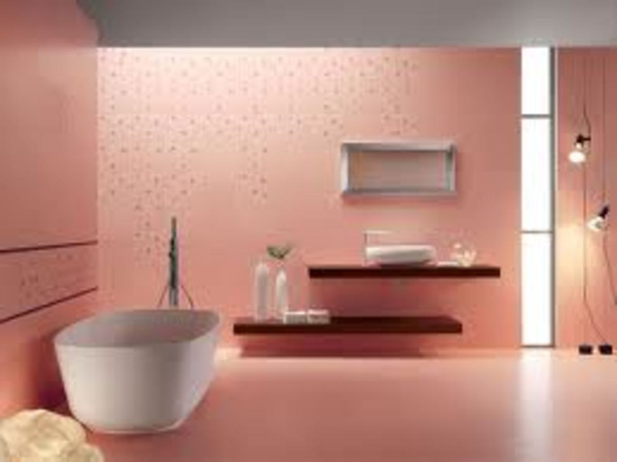 pink ultra modern bathroom design ideas