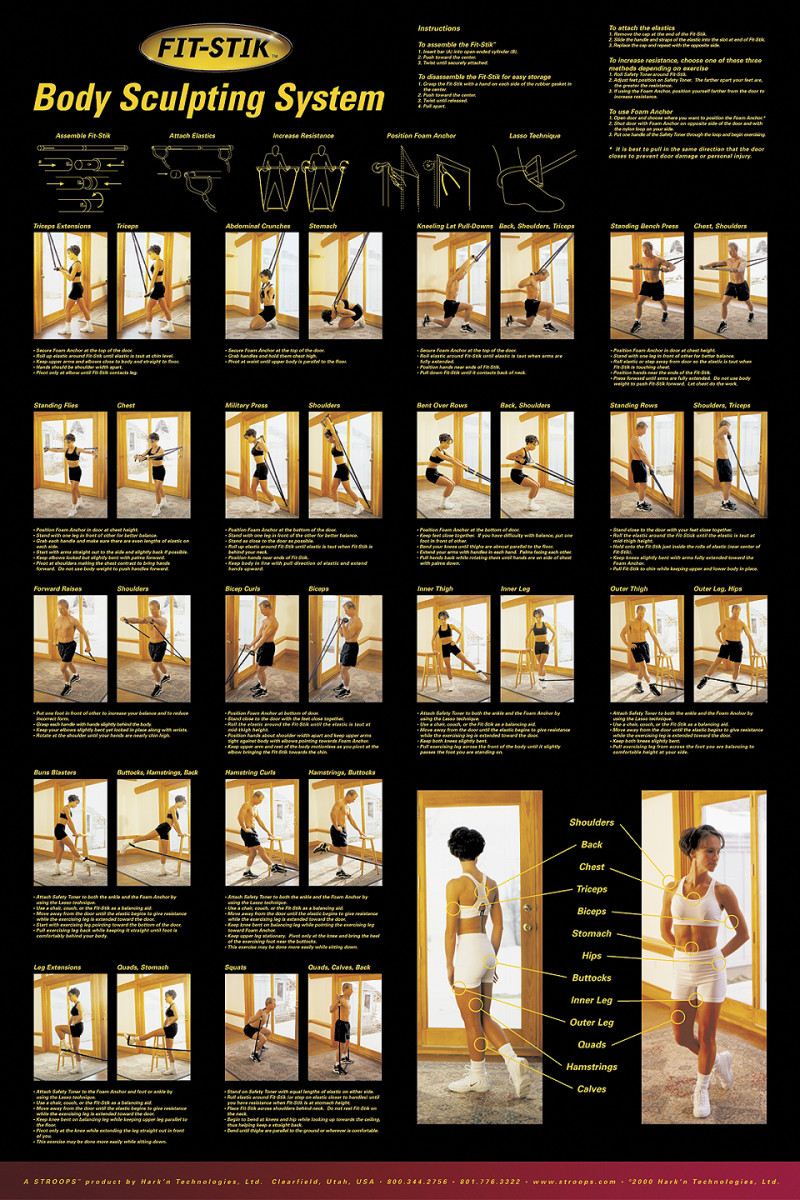 elegant black poster showings over 24 different exercises