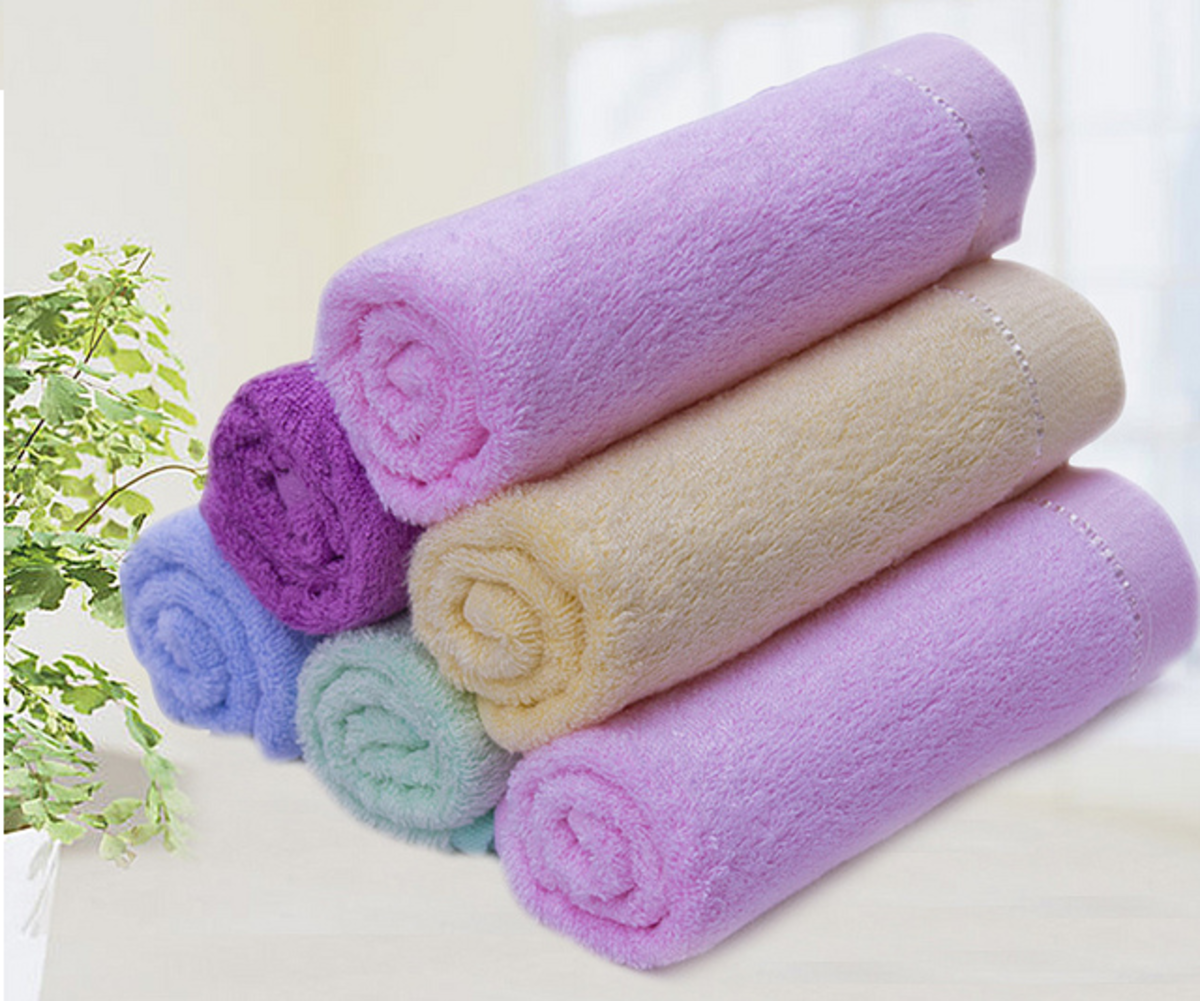 Typical shabby chic soft colours. Colours can be introduced into the bathroom through accessories, fabrics, towels, and storage containers