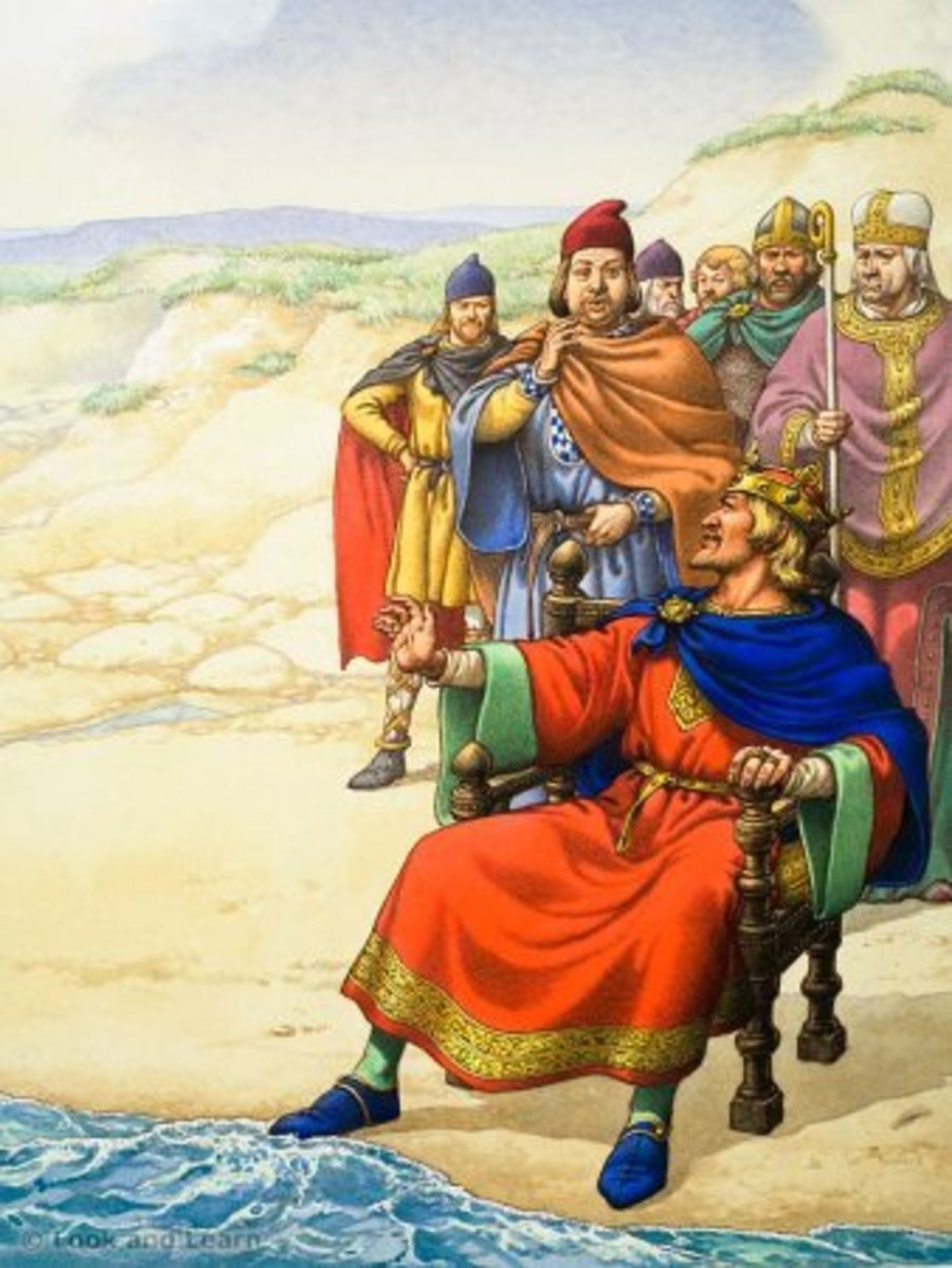 Summary of King Canute on the Seashore