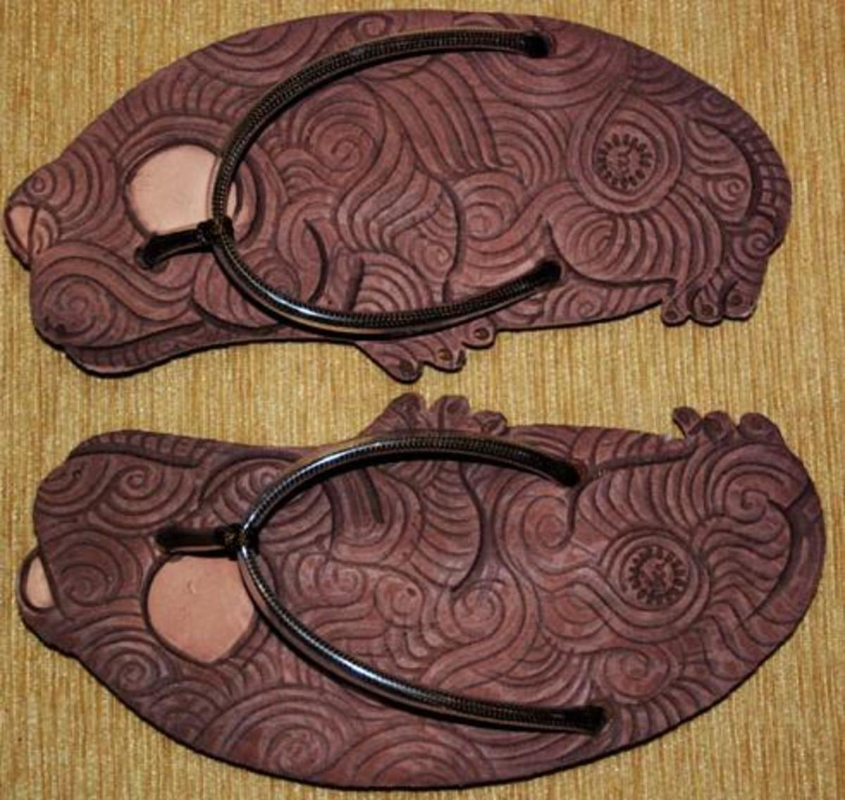 Sponge Sandal with Batik motif from Indonesia