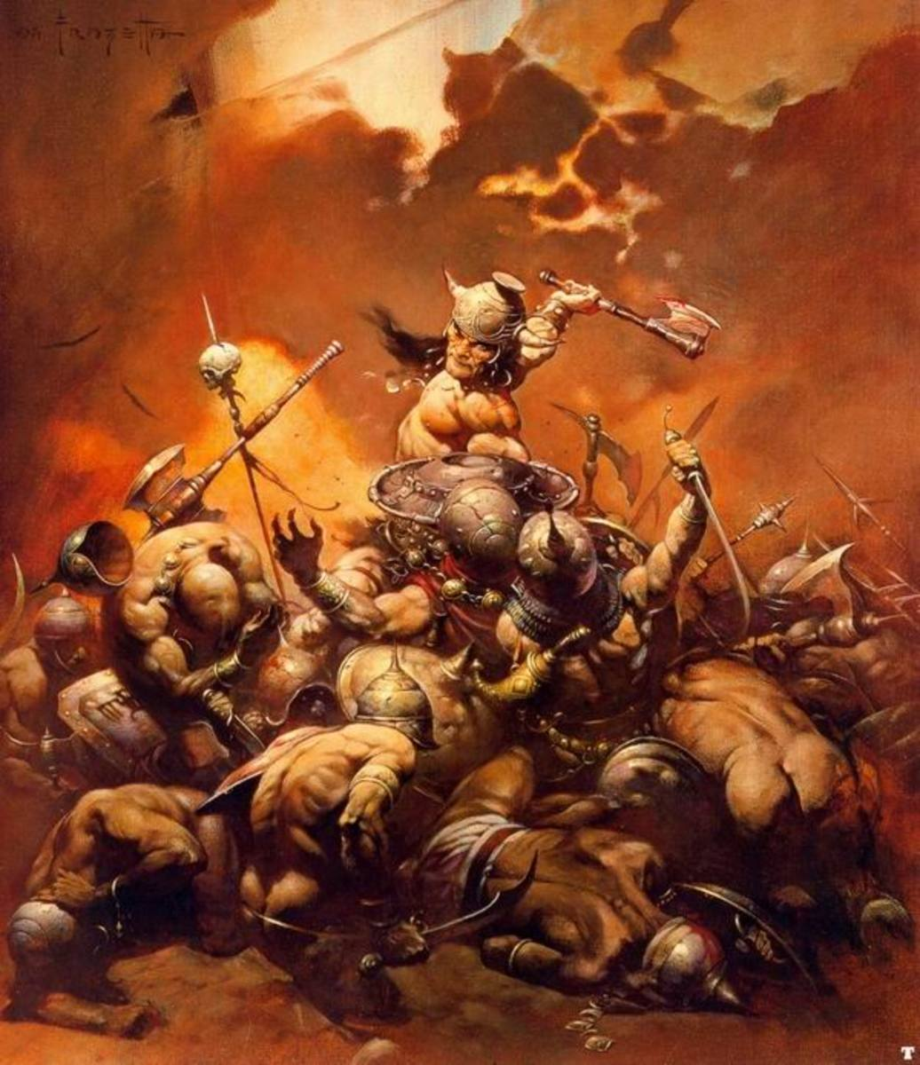 Conan the Destroyer - art by Frank Frazetta