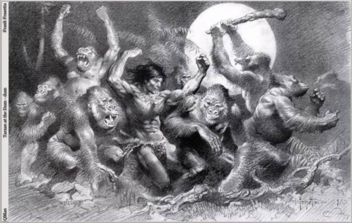 Tarzan of the Apes - art by Frank Frazetta