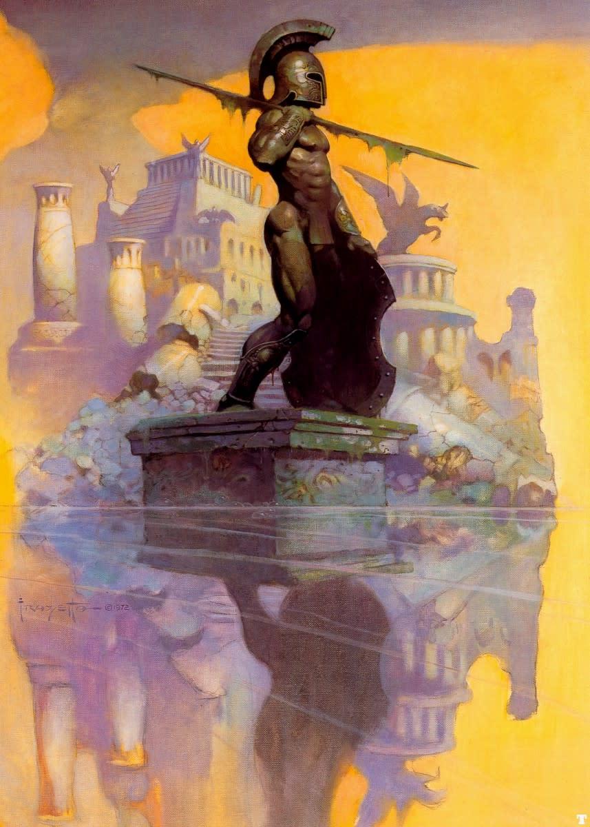 Atlantis - art by Frank Frazetta
