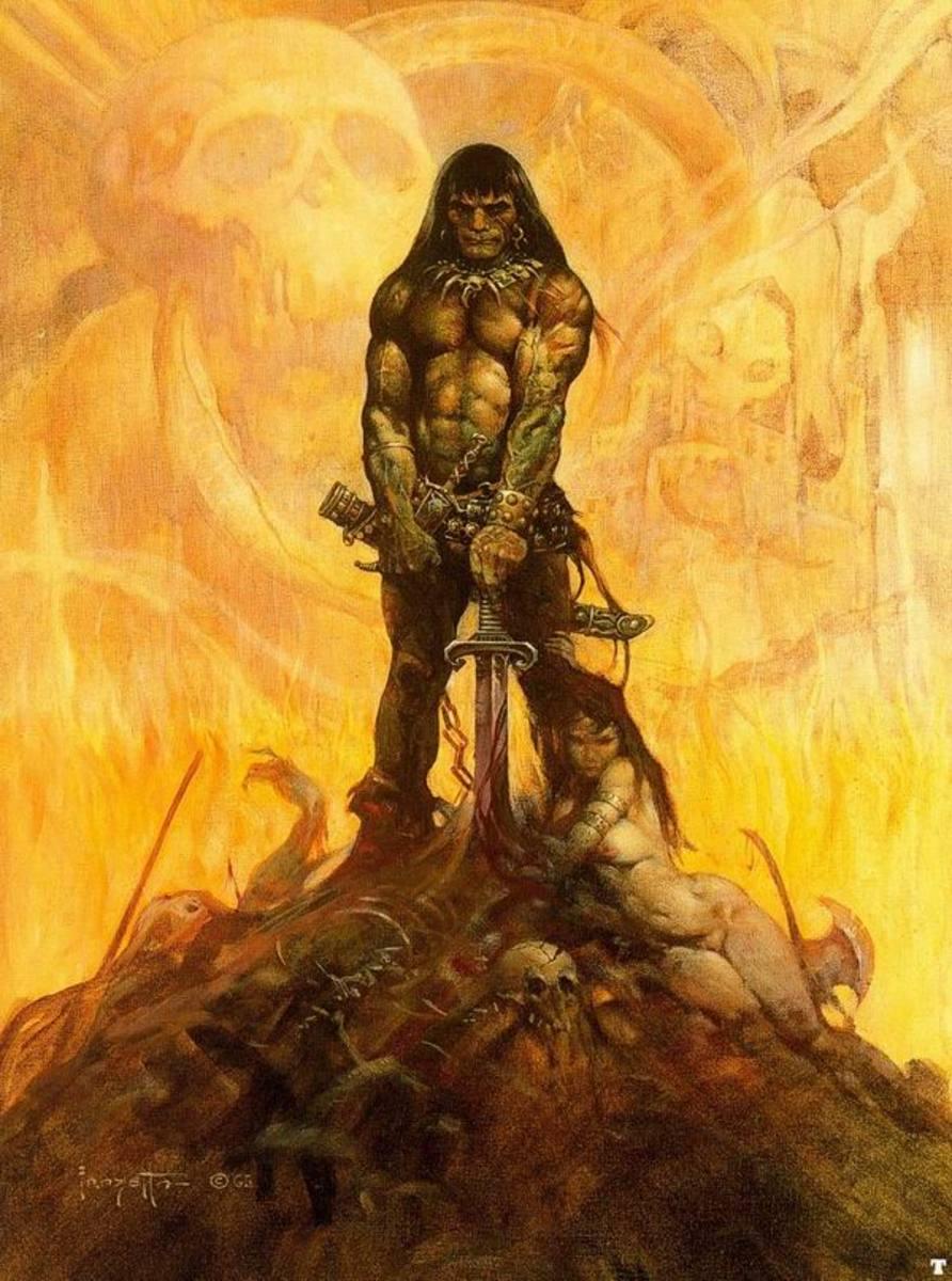 Conan the Barbarian - art by Frank Frazetta