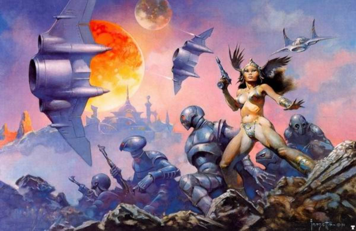 Dawn Attack - art by Frank Frazetta