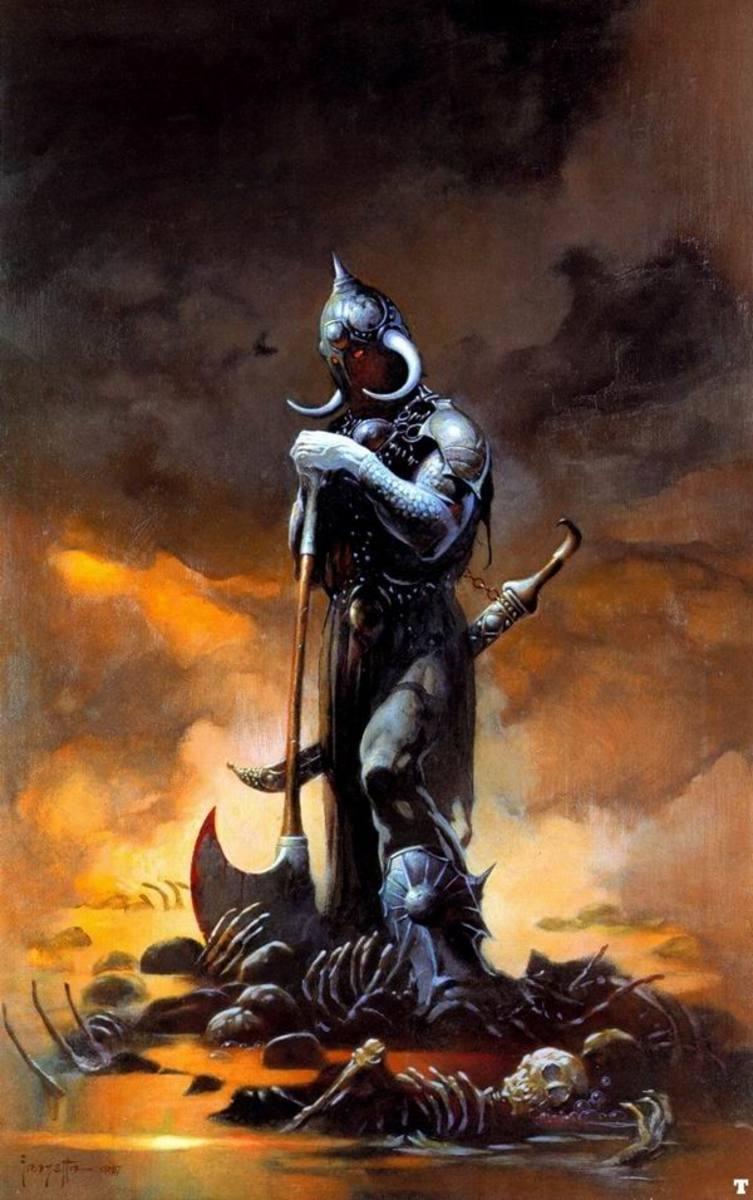 Death Dealer III - art by Frank Frazetta