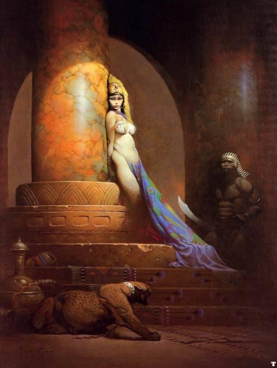 Egyptian Queen - art by Frank Frazetta