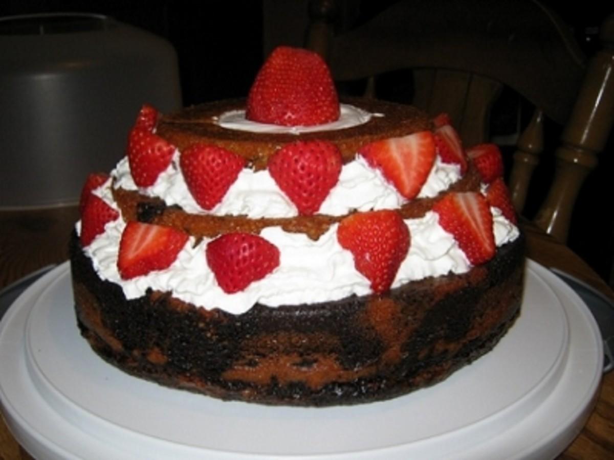 Strawberry shortcake with a chocolate twist!