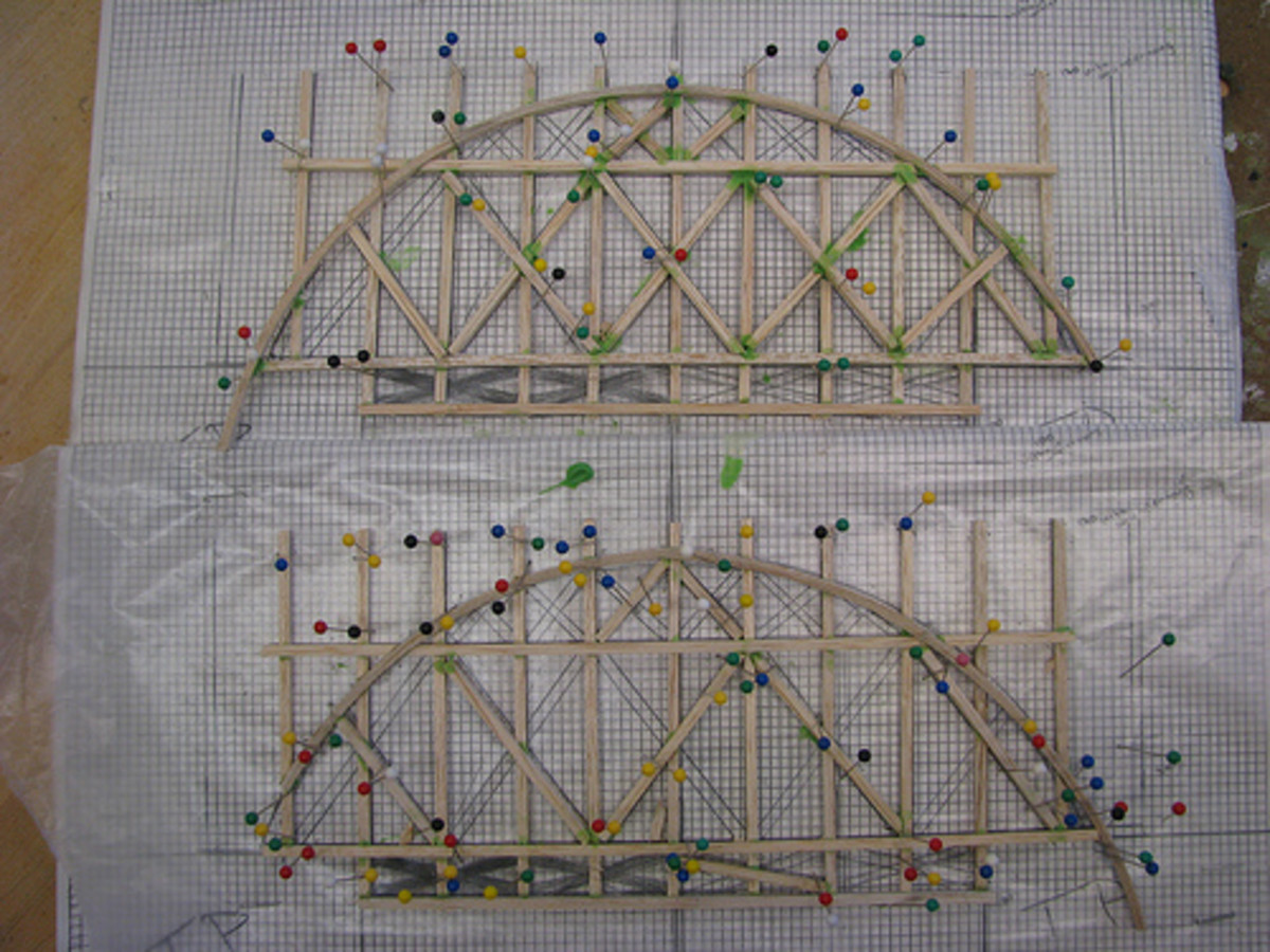 Use a jig to ensure your bridge is straight and level.