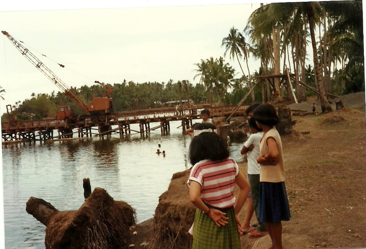 Bridge over Gihaw-an River in 1983