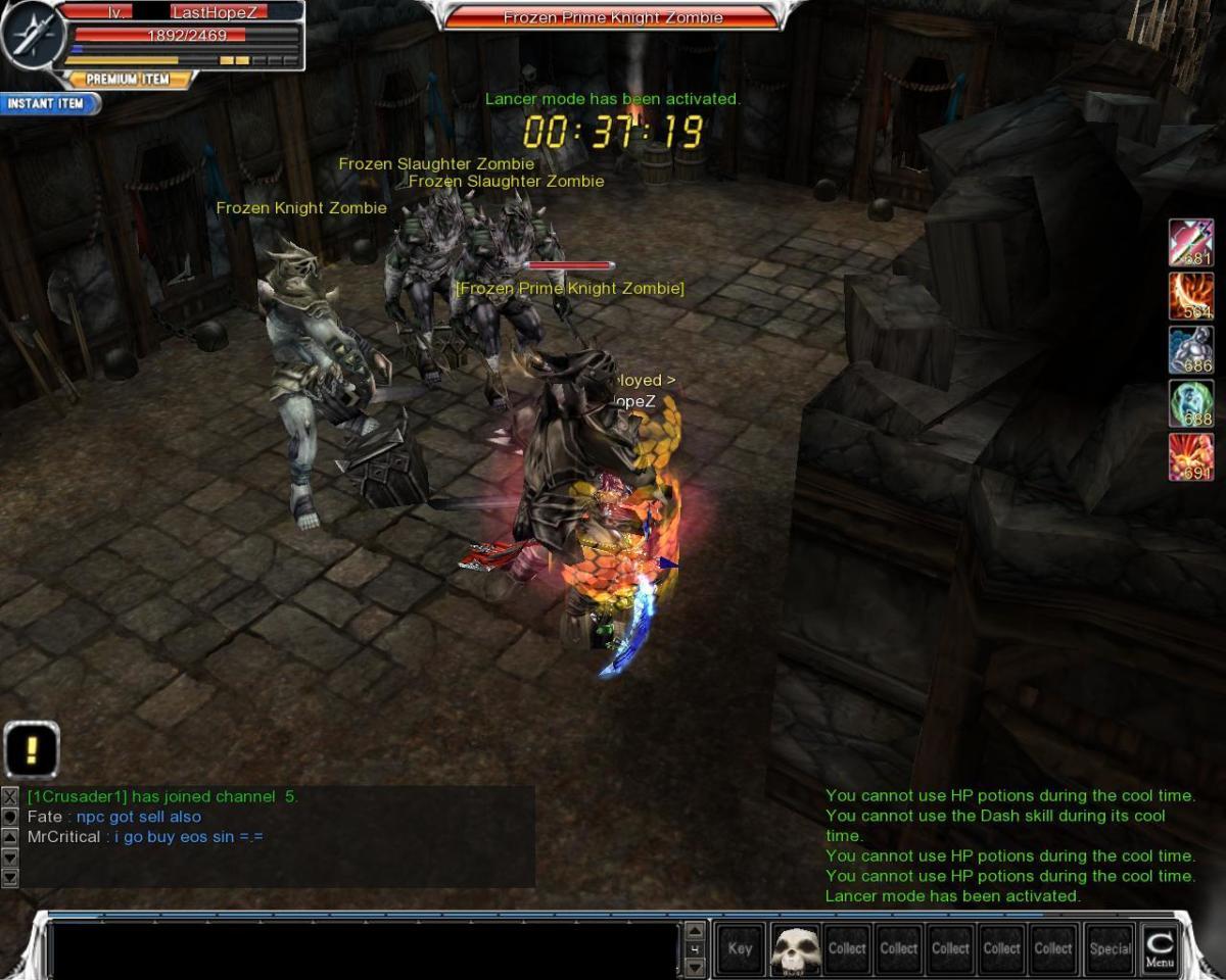 Kill Frozen Prime Knight Zombie