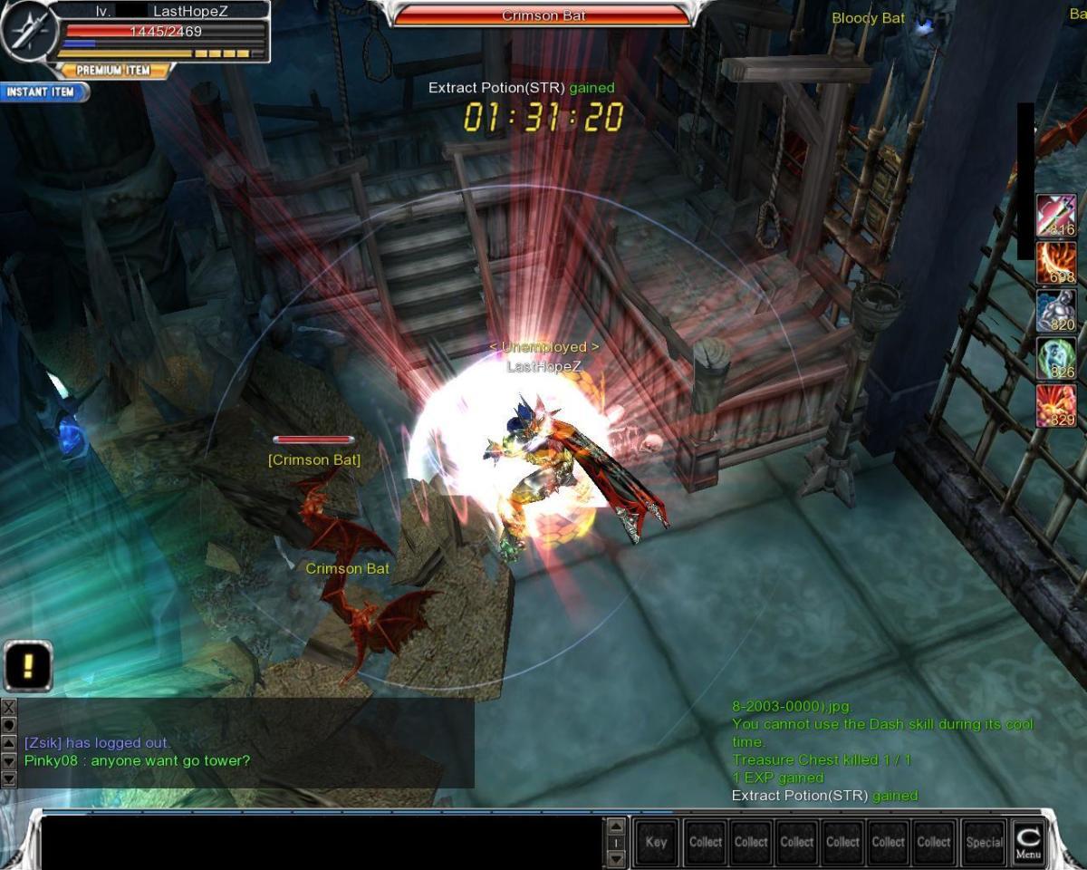 Kill both Crimson Bat and destroy the gate.