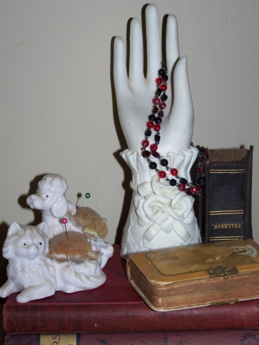 Vintage Hand and Poodles