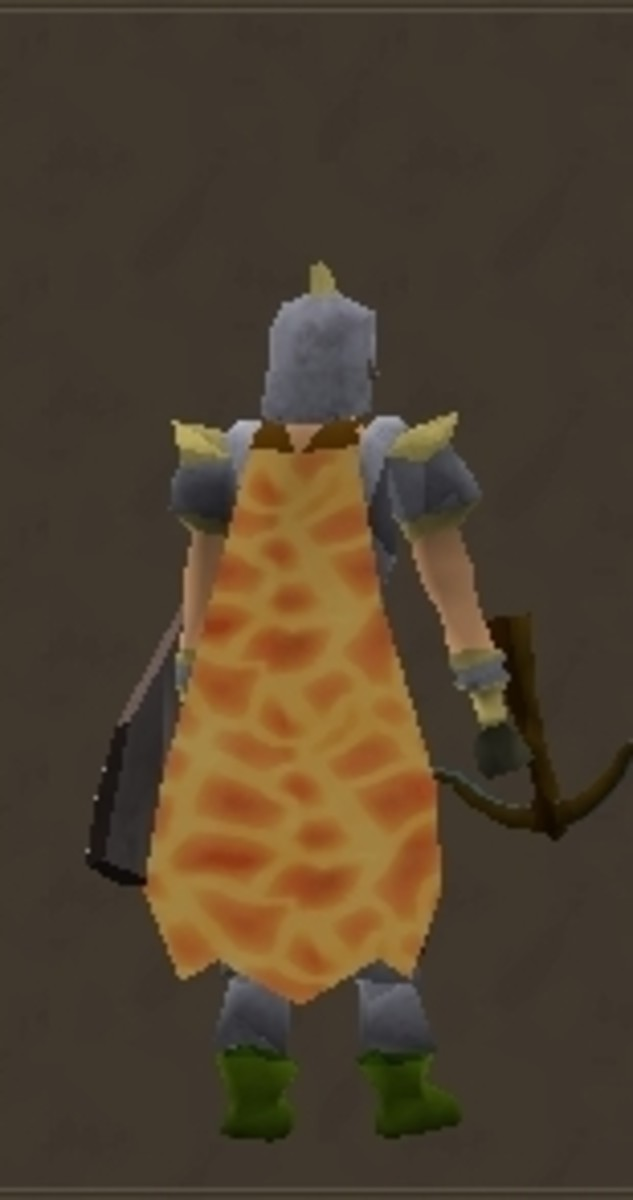 One of only 2 animated capes (Dungeoneering has the other)