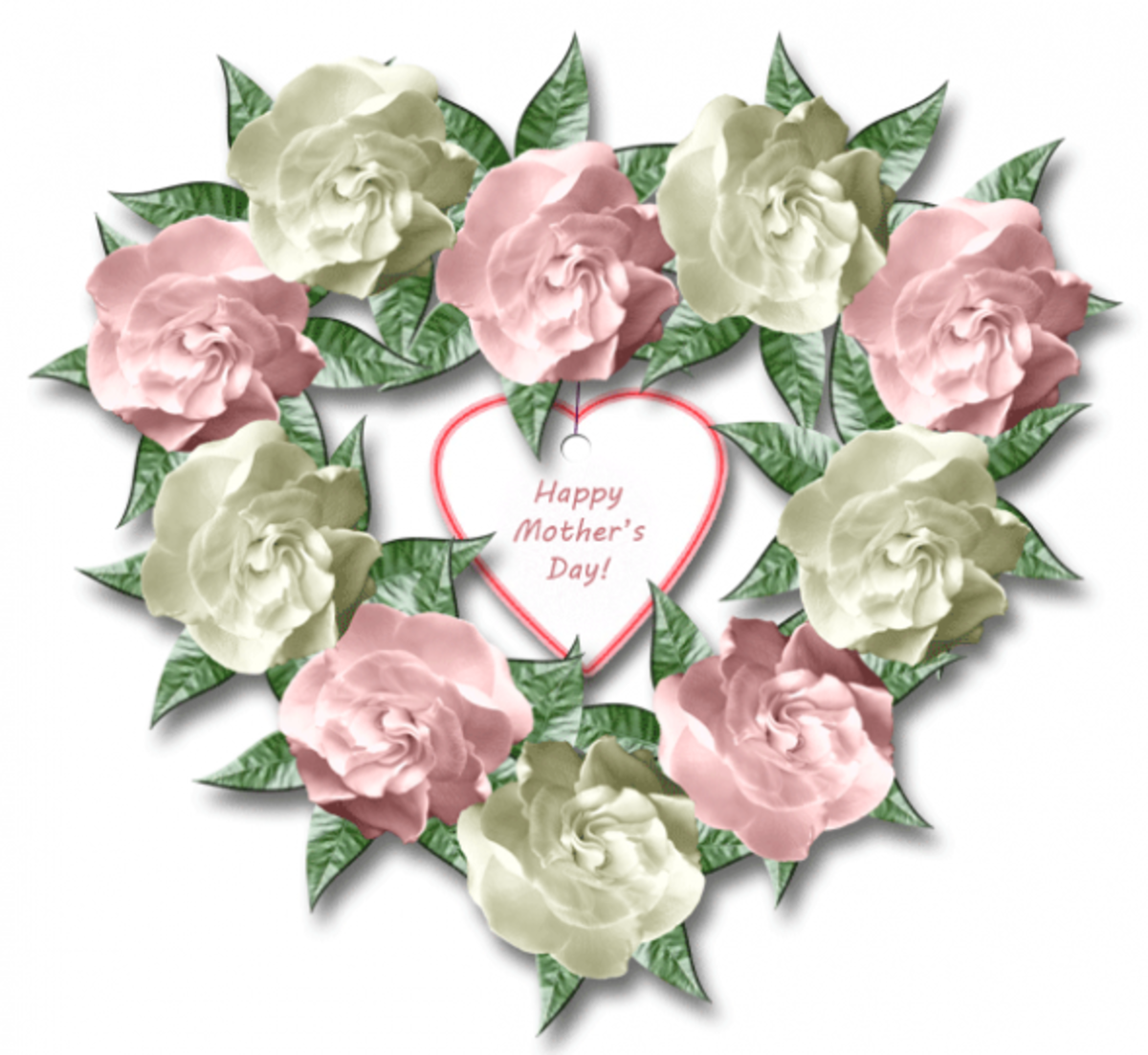 Save this Mother's Day wreath clipart for a Mother's Day greeting, or scroll down to create a large version for a fun Mother's Day craft idea.
