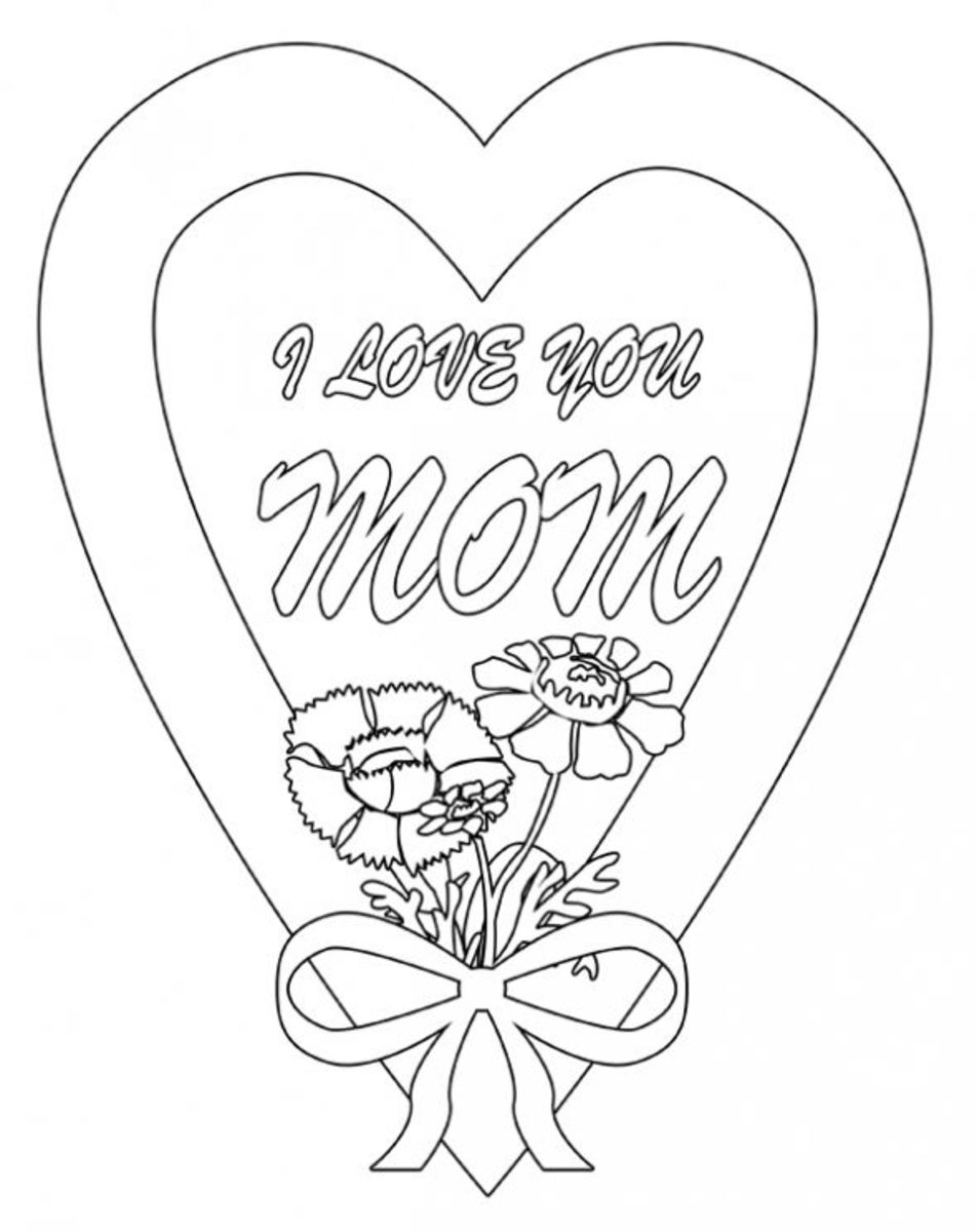 Belated Mother's Day Coloring Page