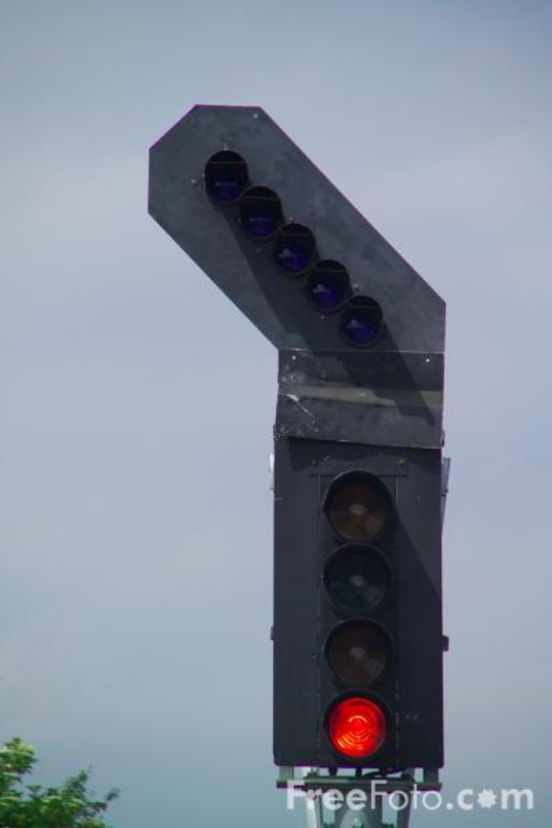 Colour Light Signal with Route Indicators