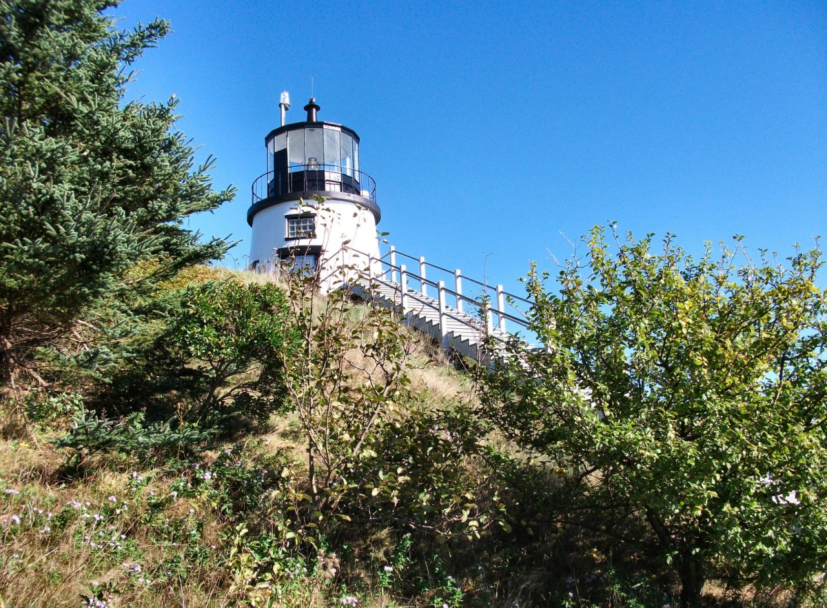 Owls Head Light was built in 1825 and authorized by President John Quincy Adams.