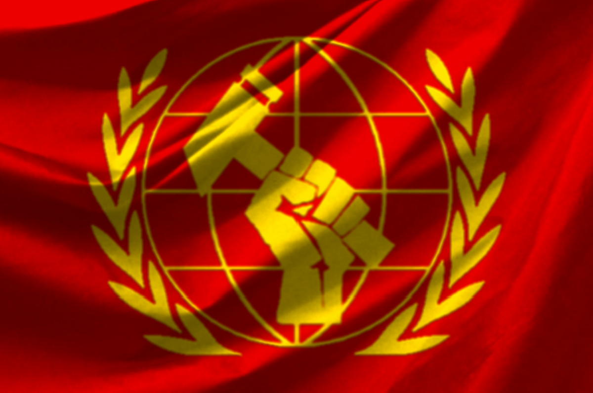 FLAG OF THE INTERNATIONAL LABOR UNION MOVEMENT