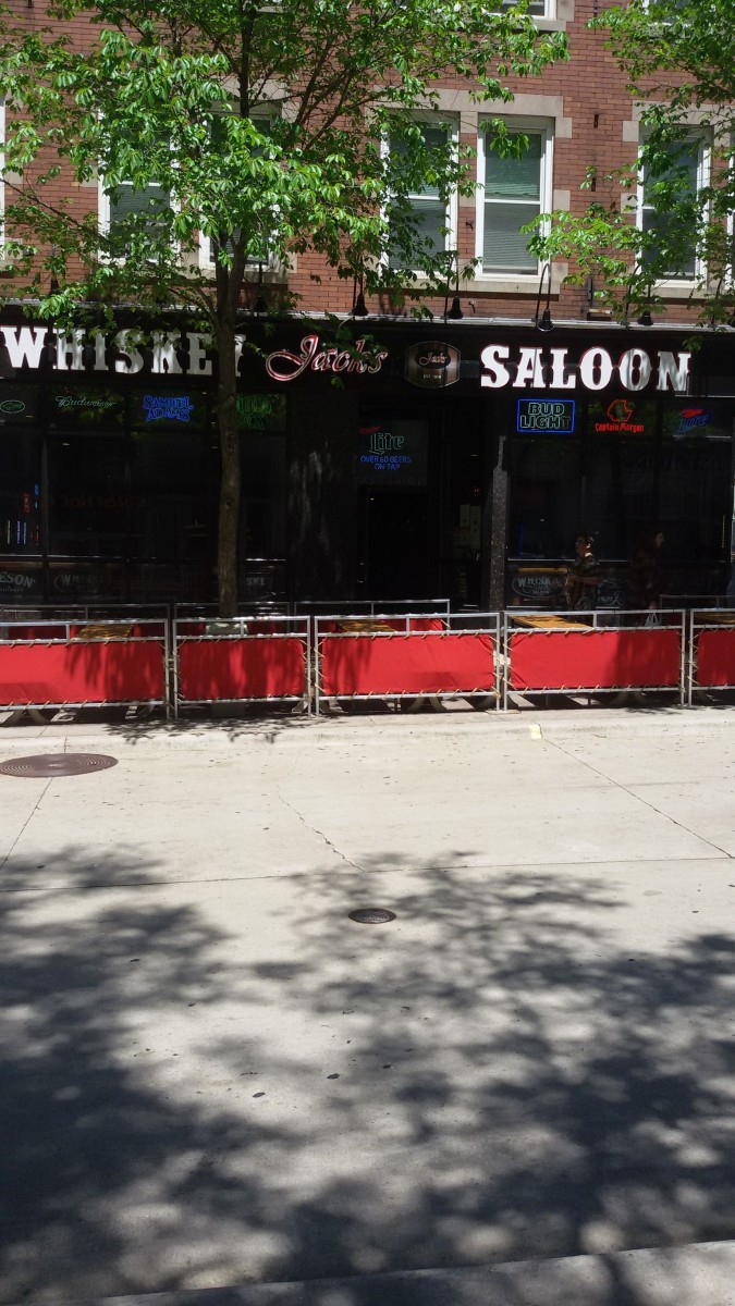 The Pub on State Street used to be located where the Saloon is now.  Picture taken in June 2019.
