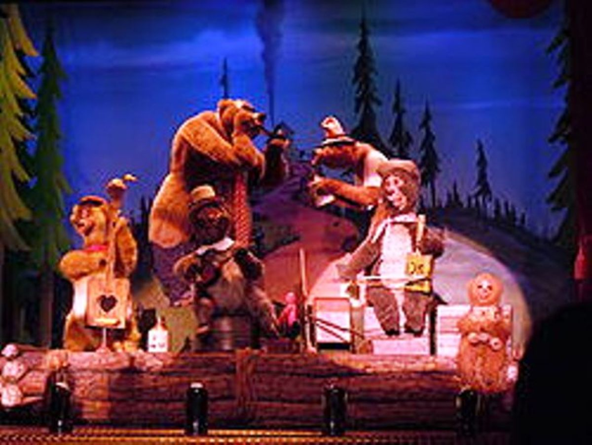 The Five Bear Rugs Disney'land's Country Bear Jamboree 1972 - 2001