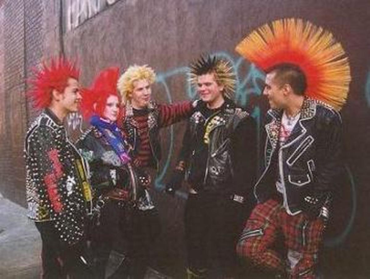 Some late 70s-early 80s style punks