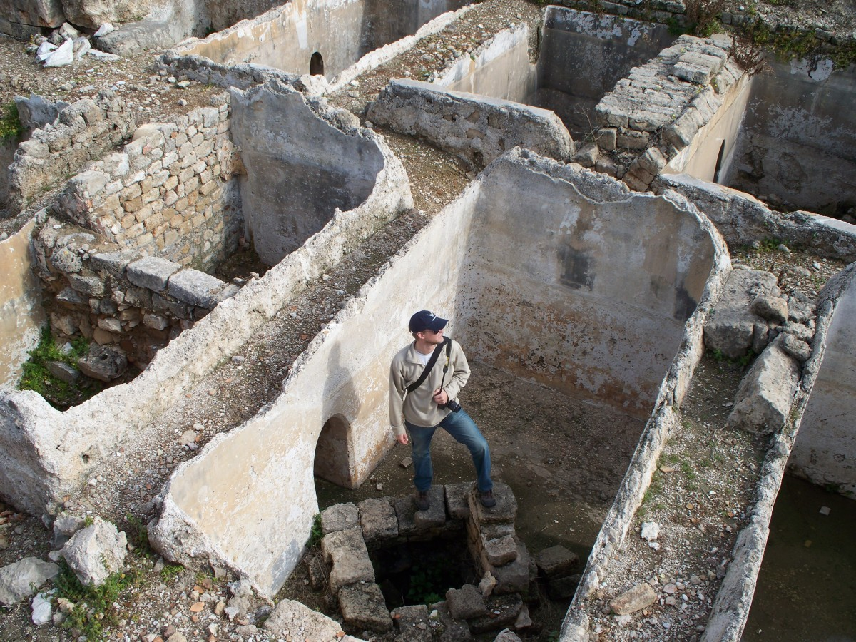 The author's cousin, exploring old houses of Tyre.